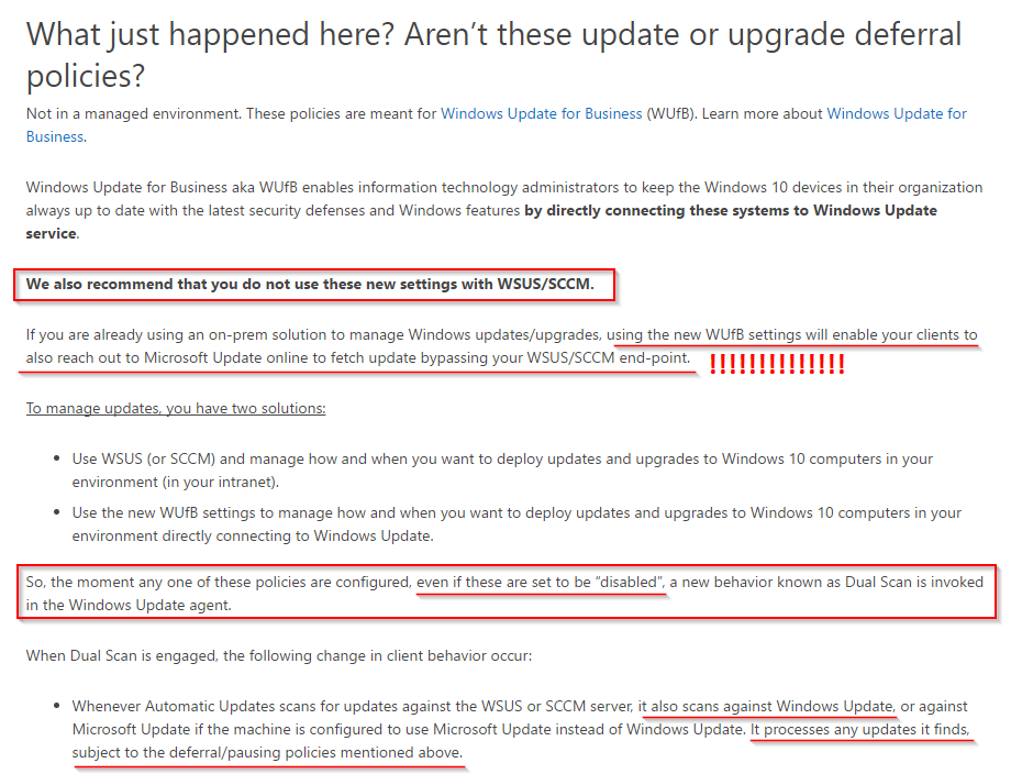 Why are my Windows 10 Devices updating via Microsoft Update